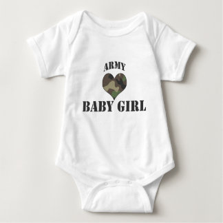 Camo Heart Army Baby Girl T-Shirt