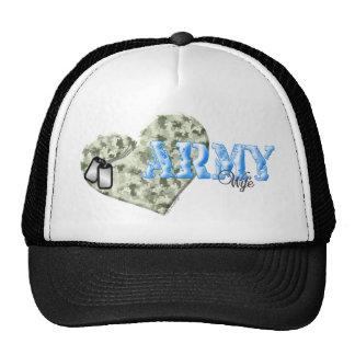 CAMO HEART ARMY WIFE HATS