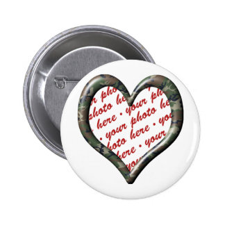Camo Heart - Forest - Template Photo Frame Buttons