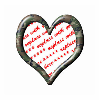 Camo Heart - Forest - Template Photo Frame Acrylic Cut Outs