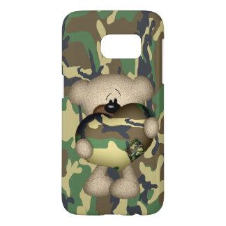 Camo Heart Military Teddy Bear Samsung Galaxy S7 Case