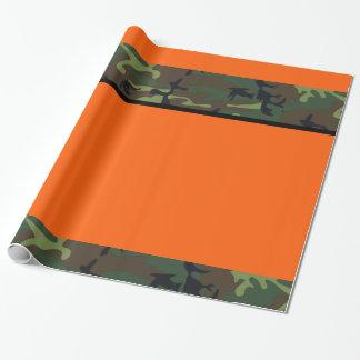 Camo Hunter Orange Wrapping Paper