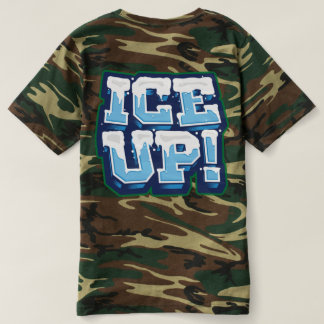 camo Ice up on Back T-shirt