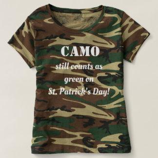Camo Is Green Ladies Shirt
