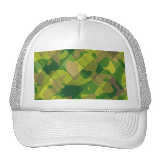 Camo Leaves Camouflage Pattern Gifts Mesh Hats