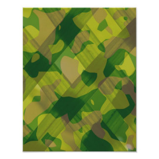 Camo Leaves Camouflage Pattern Gifts Poster