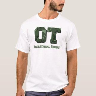 camo letters dark green T-Shirt