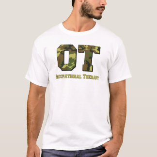 camo letters green T-Shirt