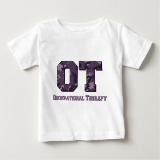 camo letters purple baby T-Shirt