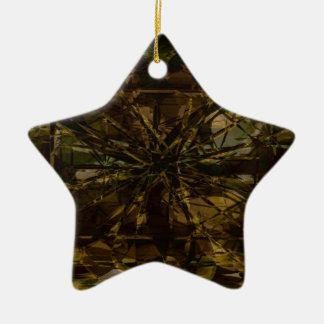 Camo Lover Petal Design Ceramic Ornament
