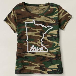 Camo Minnesota Love White T-shirt