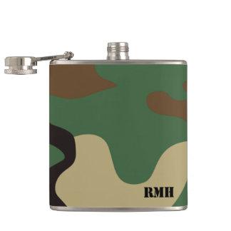 Camo Monogrammed Hip Flask