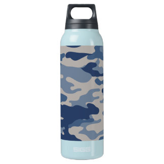 Camo Navy Blues Liberty Bottleworks Insulated Water Bottle