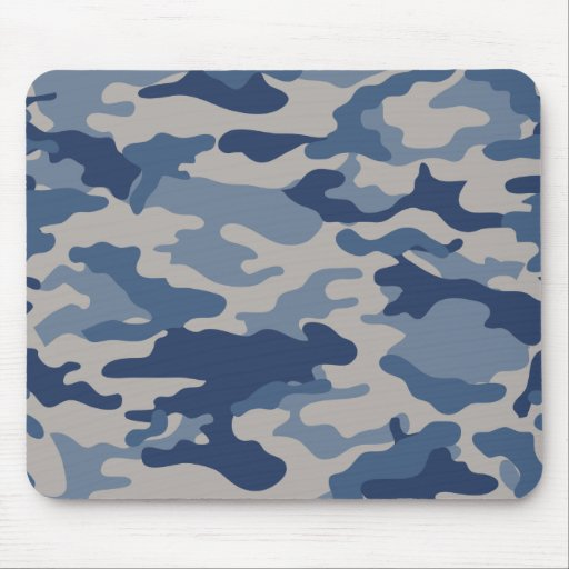 Camo Navy & Blues Mousepad