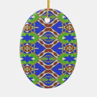 Camo Pattern Ceramic Oval Ornament