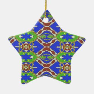 Camo Pattern Ceramic Star Ornament