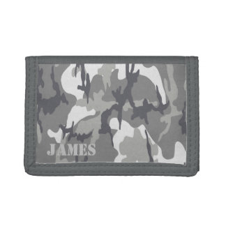 Camo Pattern Customizable Template Trifold Wallets