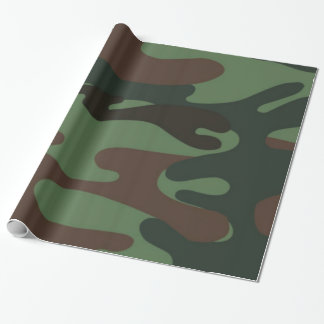 Camo Pattern fun wrapping paper