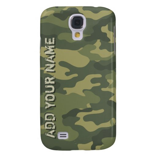 Camo Pattern - Personalize with Your Name Galaxy S4 Covers