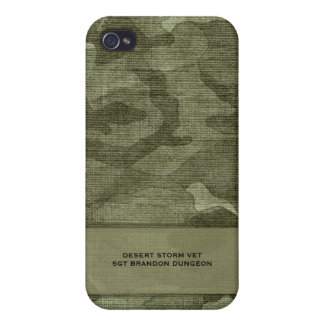 Camo Pattern Personalized Military or Hunting Case For iPhone 4