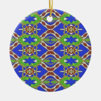 Camo Pattern Round Ceramic Ornament