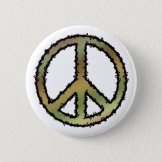 Camo Peace Sign 2 Inch Round Button