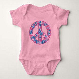 Camo Peace Symbol Baby Bodysuit