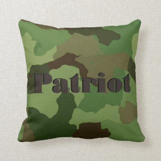 Camo Pillow Patriot Army Military