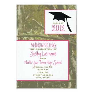 Camo & Pink 2012 Graduation Announcement