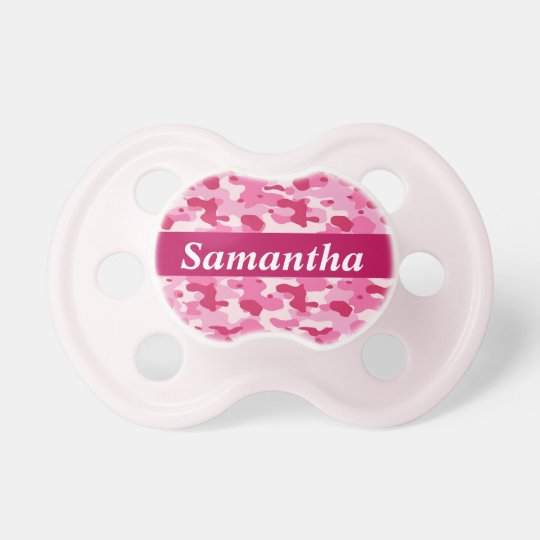 Camo - Pink Baby Pacifiers