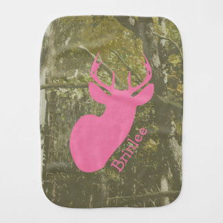 Camo + Pink Deer Burp Cloth