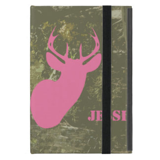 Camo & Pink Deer iPad Mini Case With Kickstand
