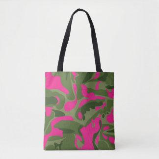 Camo pink tote bag