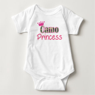 Camo Princess Baby Girl Shirt-Romper - Bodysuit
