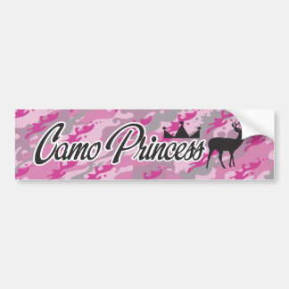Camo Princess Bumper Sticker