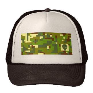 Camo Skull - Green & Brown Trucker Hat