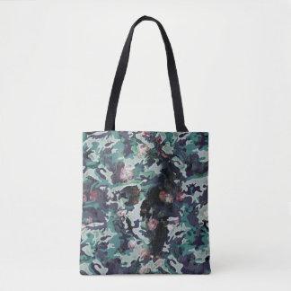 Camo Skull Tote Bag
