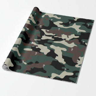 Camo Skulls Wrapping Paper