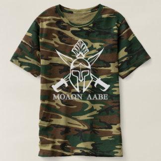 Camo Spartan Warrior Molon Labe T-shirt