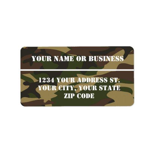 Camo Stencil Address Label
