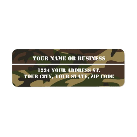 Camo Stencil Return Address Labels