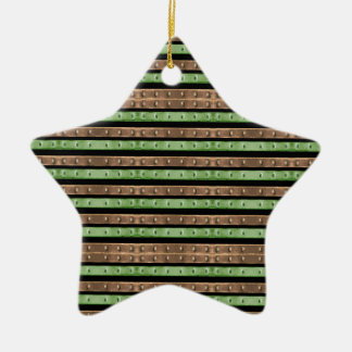 Camo Stripes Print Ceramic Ornament