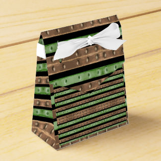 Camo Stripes Print Favor Box