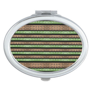 Camo Stripes Print Makeup Mirror