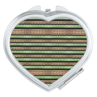 Camo Stripes Print Makeup Mirrors