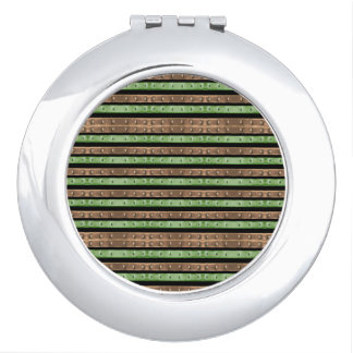 Camo Stripes Print Mirror For Makeup
