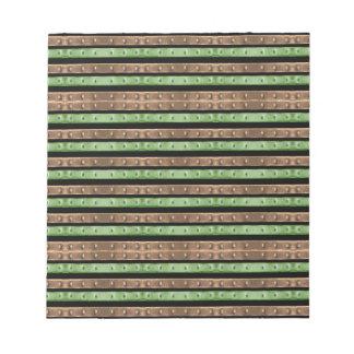Camo Stripes Print Notepad