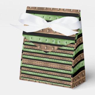 Camo Stripes Print Party Favor Boxes