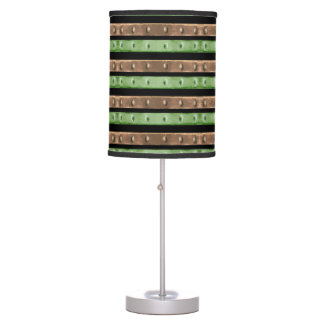 Camo Stripes Print Table Lamp