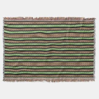 Camo Stripes Print Throw Blanket